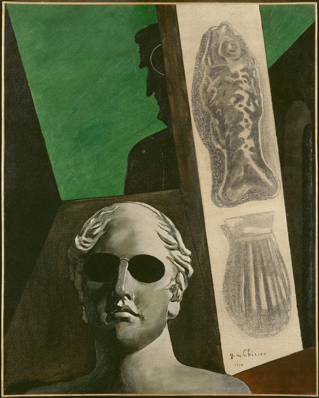 Giorgio de Chirico, Portrait (prémonitoire) de Guillaume Apollinaire, 1914,Paris, Musée National d