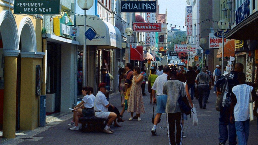 Willemstad mostrando compras, escenas urbanas y una ciudad