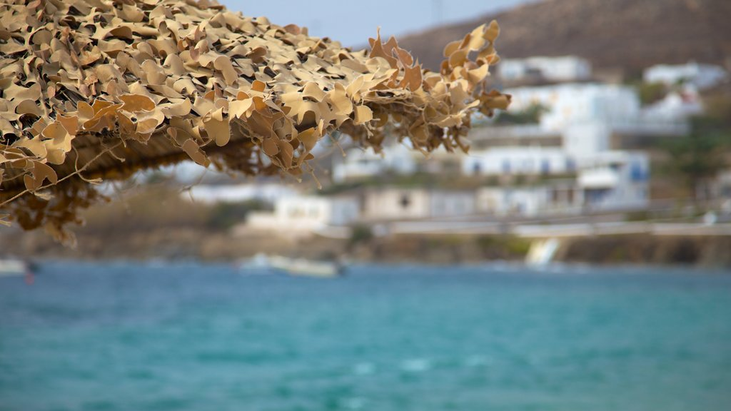 Ornos Bay which includes general coastal views and a coastal town