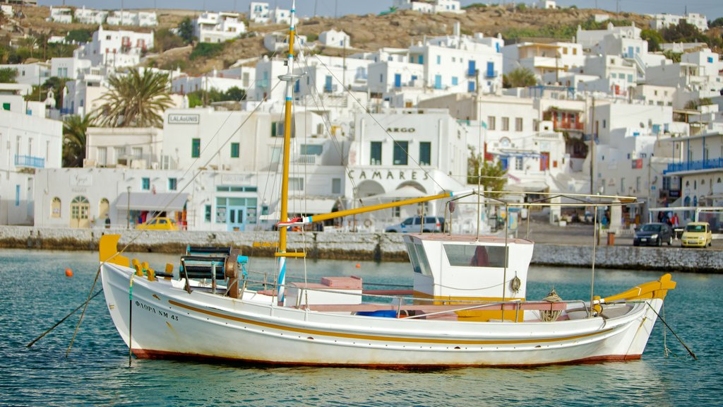 Mykonos Town featuring boating, general coastal views and a bay or harbour