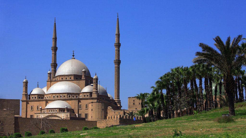 Cairo featuring heritage architecture, a city and a mosque