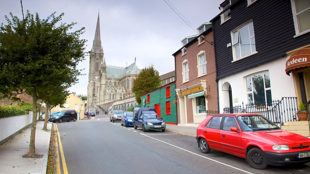 Cobh which includes a city, heritage architecture and street scenes