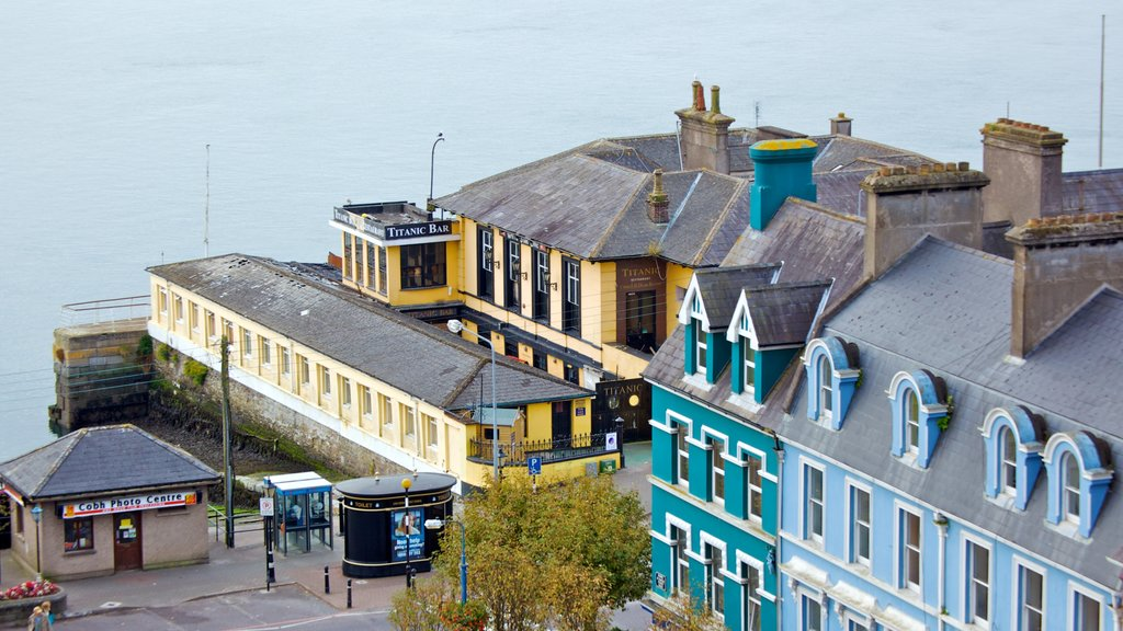 Cobh showing a coastal town and general coastal views