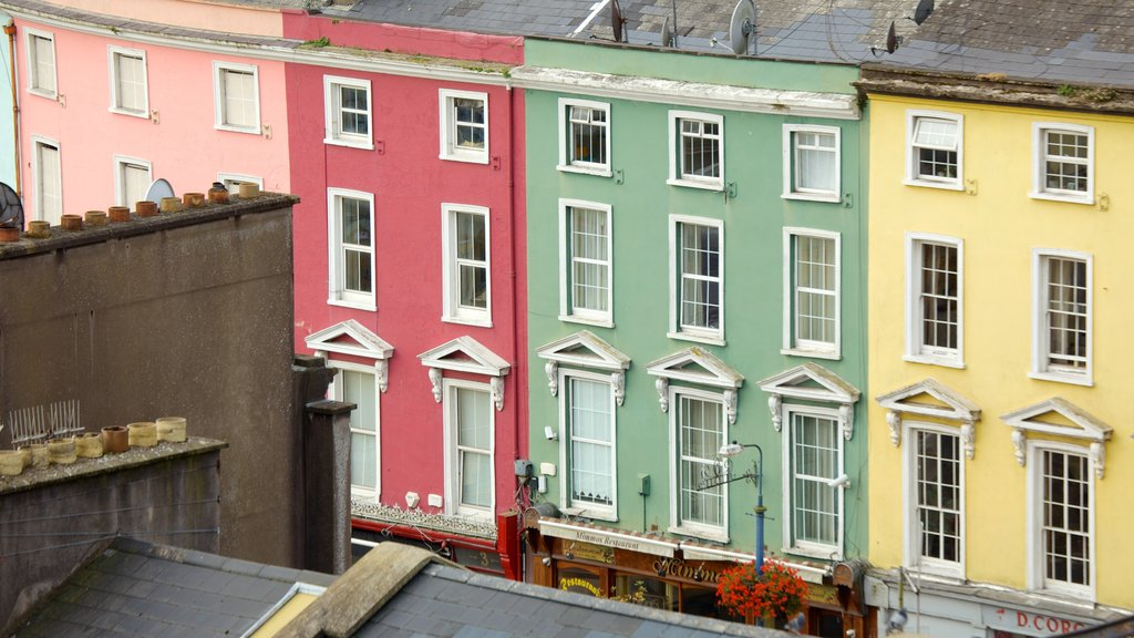 Cobh which includes heritage architecture, a house and a city