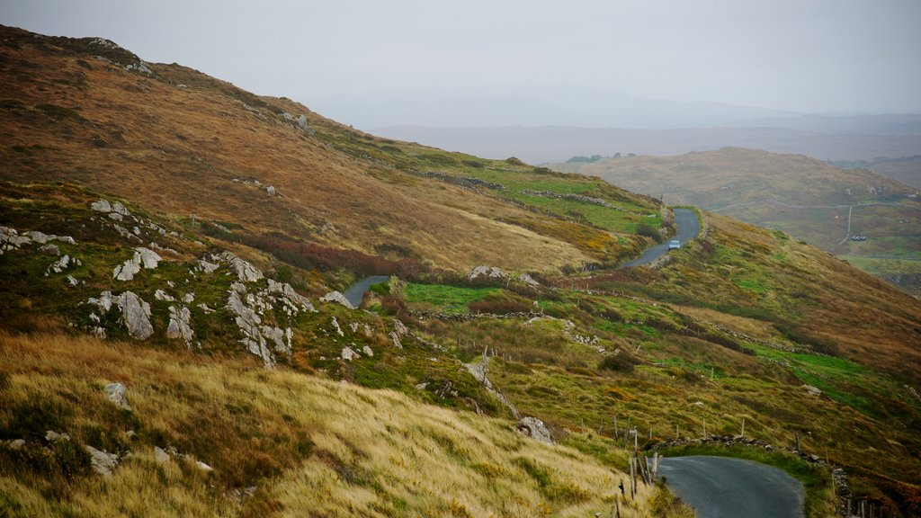 Clifden featuring mist or fog, tranquil scenes and mountains