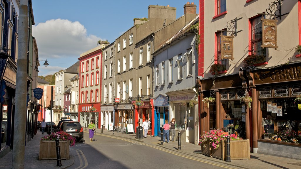New Ross featuring a small town or village, street scenes and heritage architecture