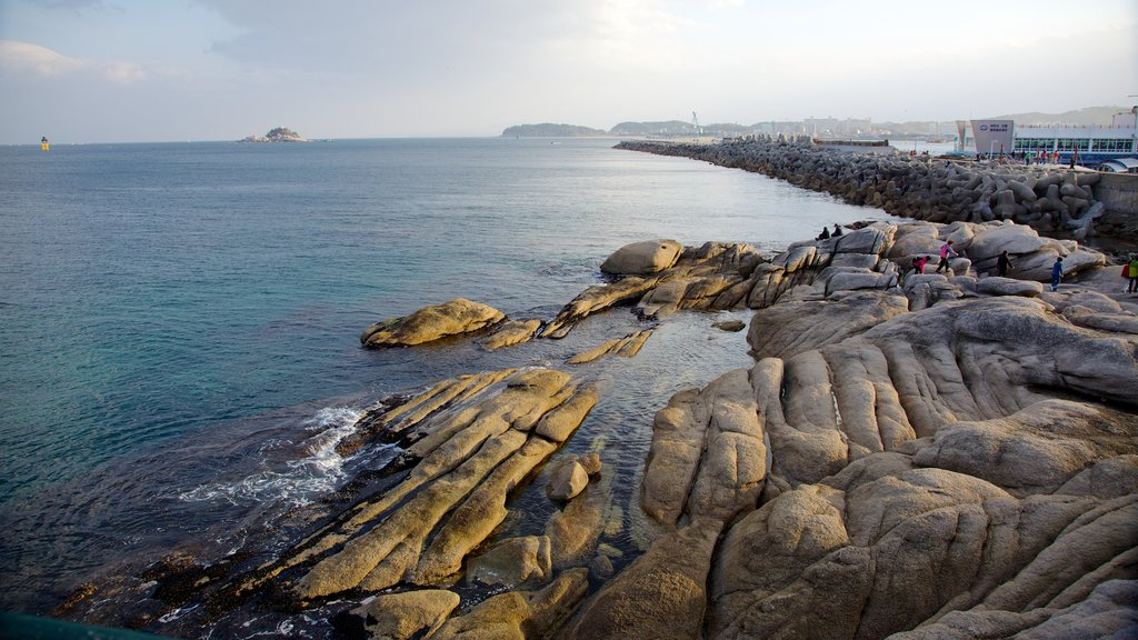 Sokcho which includes rugged coastline, landscape views and views