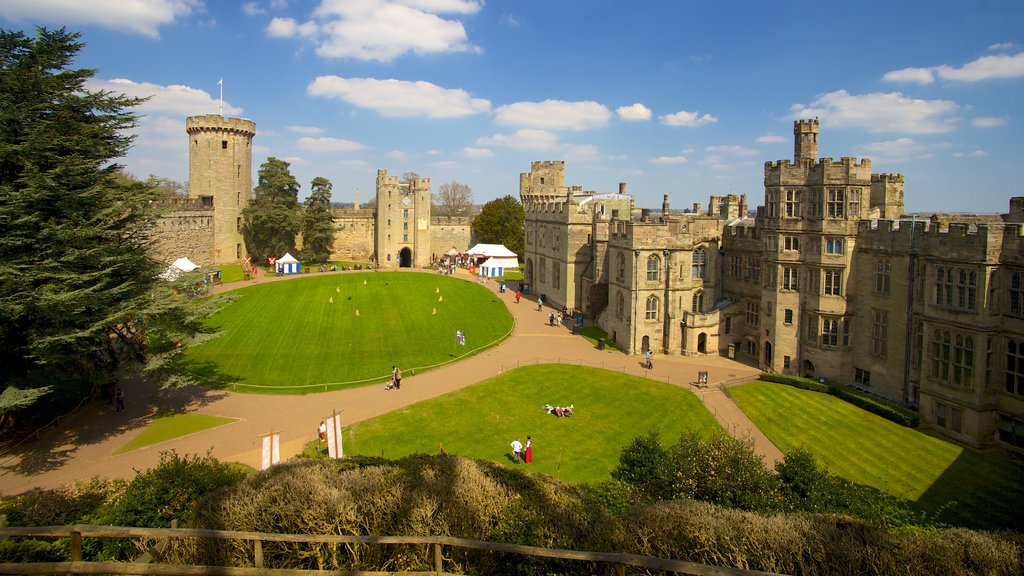 Warwick Castle which includes a castle, heritage architecture and views