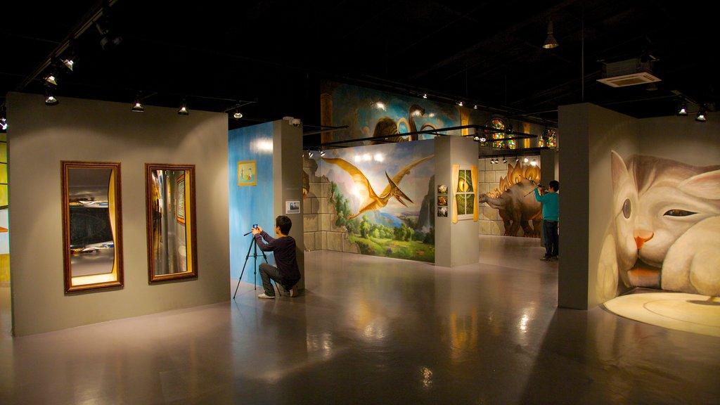 Isla de Jeju mostrando arte y vistas interiores