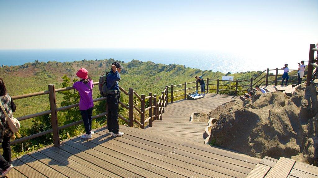 Seongsan Ilchulbong showing tranquil scenes, views and hiking or walking