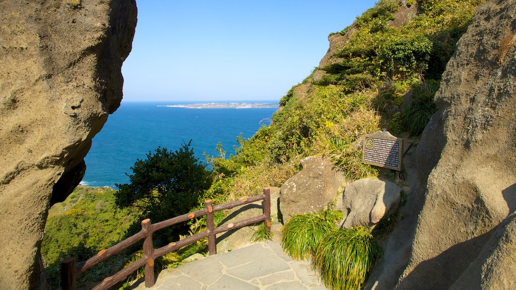 Seongsan Ilchulbong featuring general coastal views, landscape views and tranquil scenes