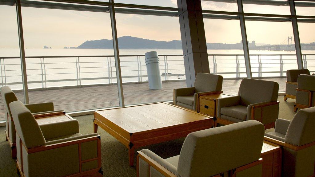 Nurimaru APEC House showing modern architecture, general coastal views and interior views