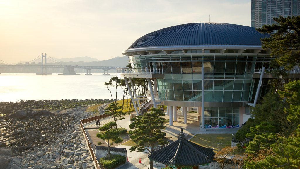 Nurimaru APEC House which includes general coastal views, a house and modern architecture