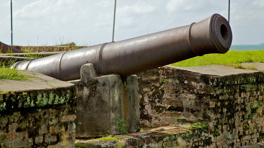 Fort Cornwallis which includes heritage architecture and military items