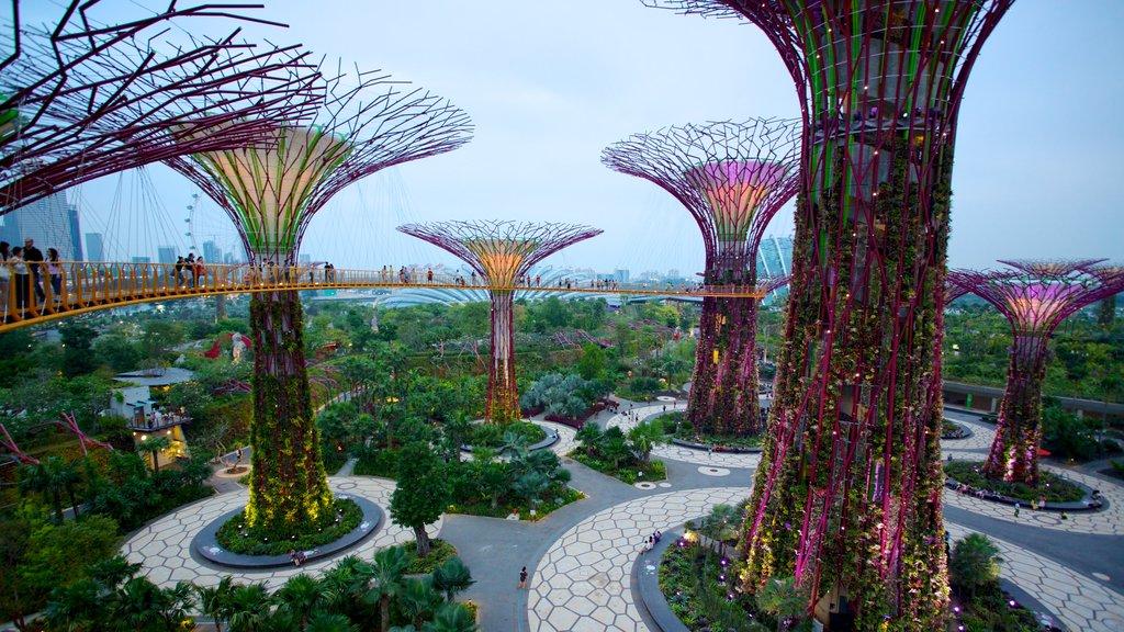 Gardens by the Bay ofreciendo un jardín y arquitectura moderna