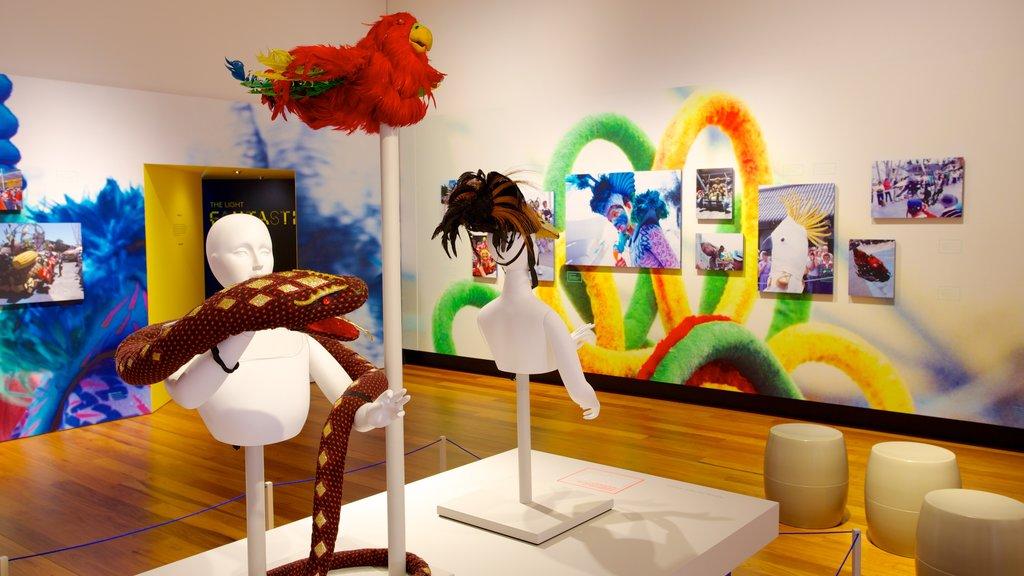 Museum of Brisbane featuring interior views