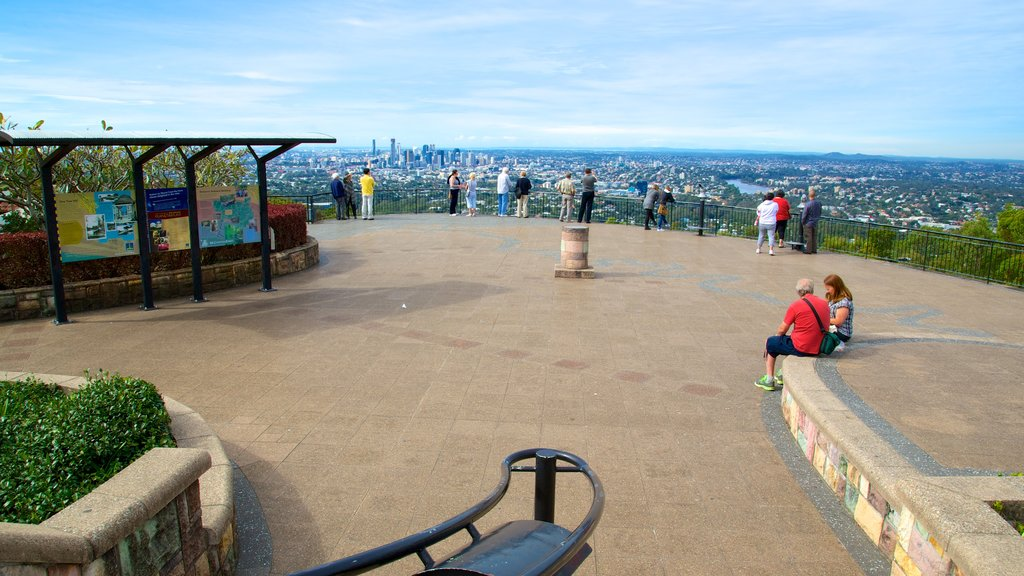 Mt. Coot-Tha featuring a city, views and an observatory