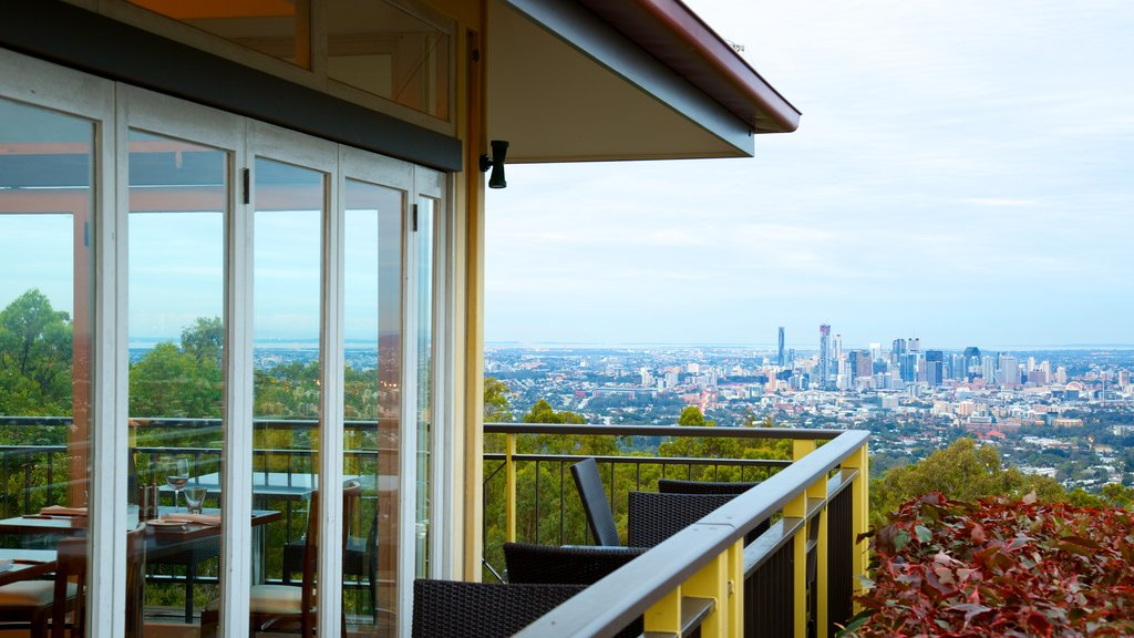 Mt. Coot-Tha which includes a city