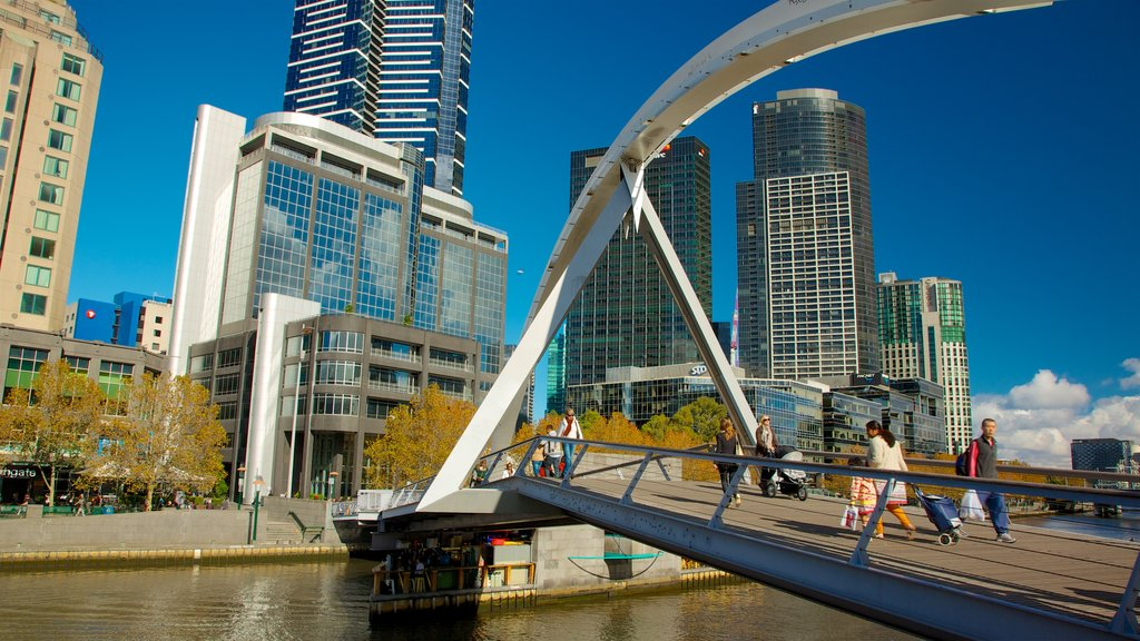 Southbank featuring a bridge, a river or creek and a city