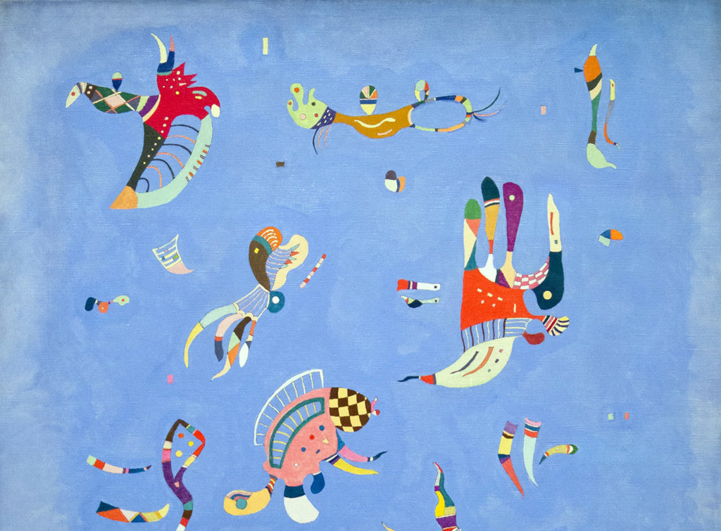 Blu cielo, particolare - By Wassily Kandinski - Own work, 7 July 2012, Public Domain, https://commons.wikimedia.org/w/index.php?curid=38658446