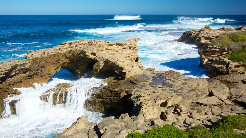 Western Australia which includes rugged coastline, caves and surf