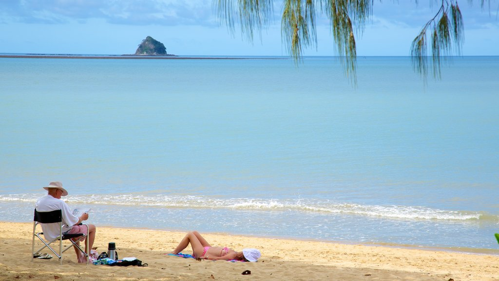 Palm Cove Beach featuring a beach, landscape views and tropical scenes