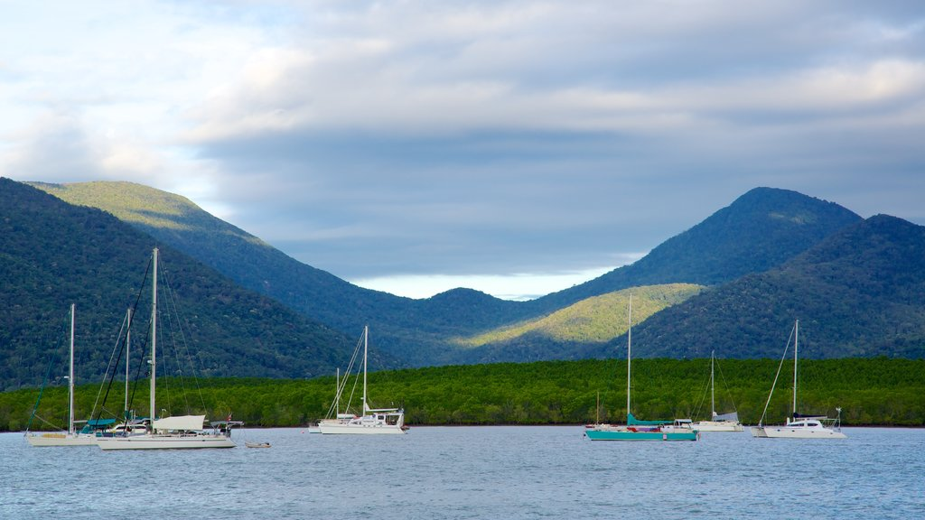 Cairns showing mountains, landscape views and sailing