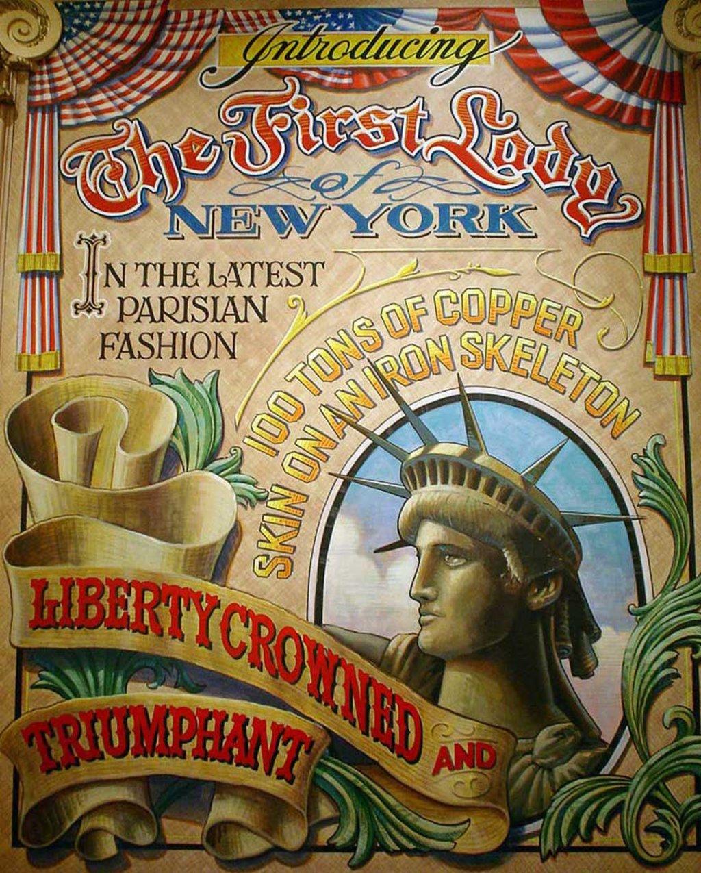 Il manifesto per l'inaugurazione della Statua della Libertà - By Jdontfight (Opera propria)  , via Wikimedia Commons