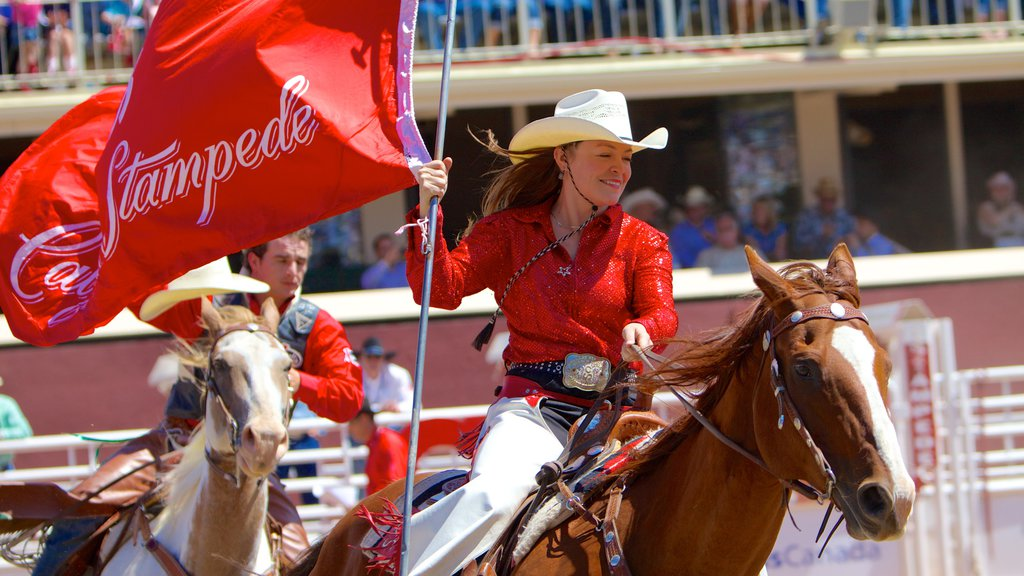 Calgary which includes a festival and horseriding as well as an individual femail