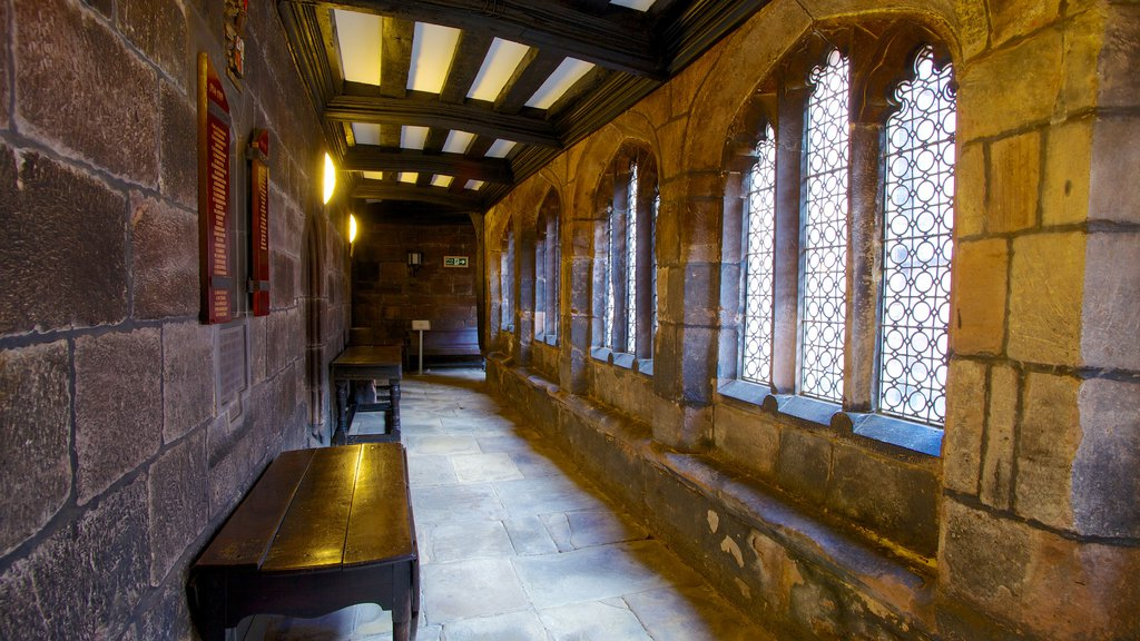 Chetham\'s Library featuring interior views