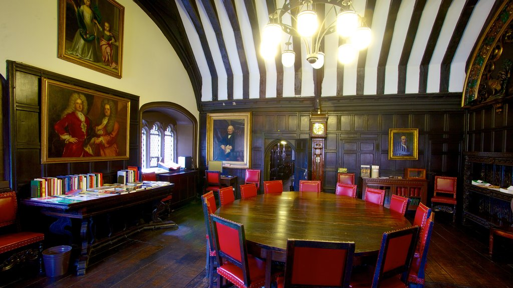 Chetham\'s Library which includes interior views and art