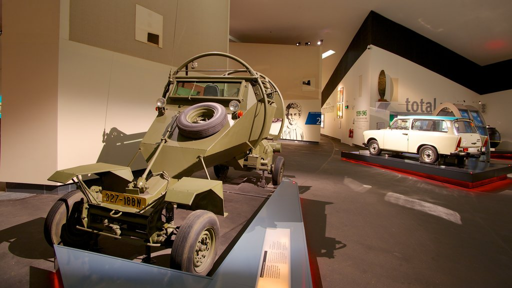 Imperial War Museum North showing interior views and military items