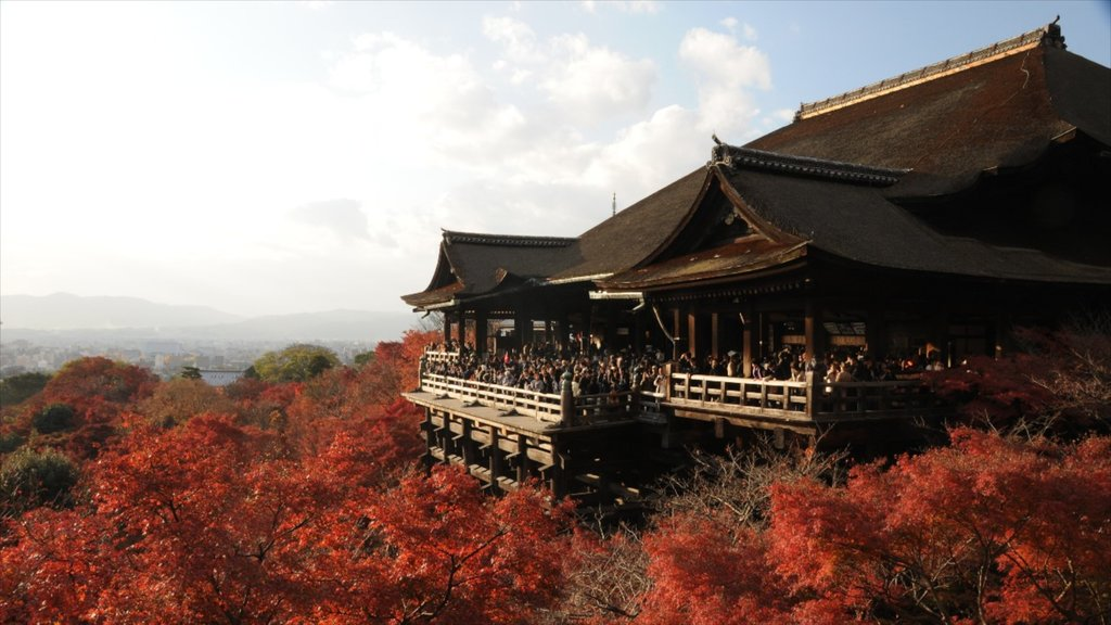 Kiyomizu Temple featuring a temple or place of worship and religious aspects