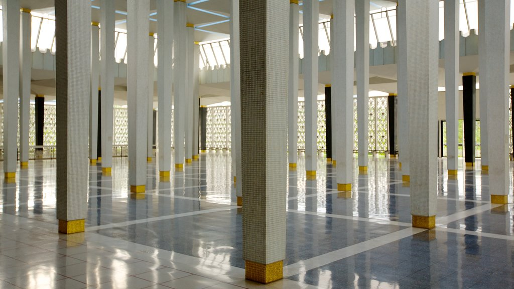 National Mosque which includes religious aspects, interior views and a mosque