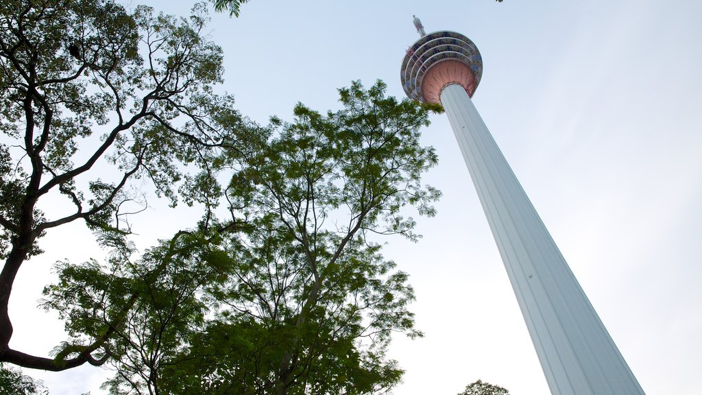 Kuala Lumpur Tower which includes views, a high rise building and modern architecture
