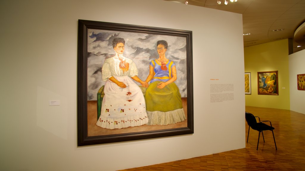 Museo de Arte Moderno showing art and interior views
