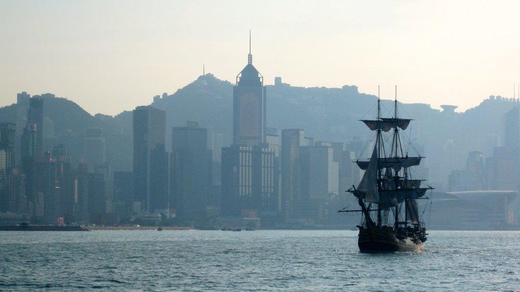 Tsim Sha Tsui which includes general coastal views, a city and skyline