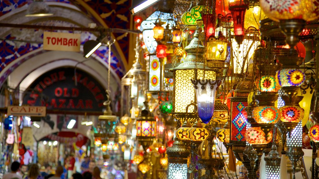 Grand Bazaar featuring interior views and markets