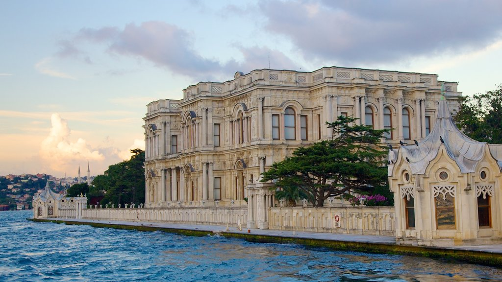 Beylerbeyi Palace which includes general coastal views, heritage architecture and chateau or palace