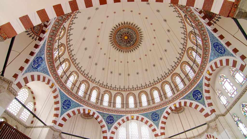 Rustem Pasha Mosque which includes religious aspects, interior views and a mosque