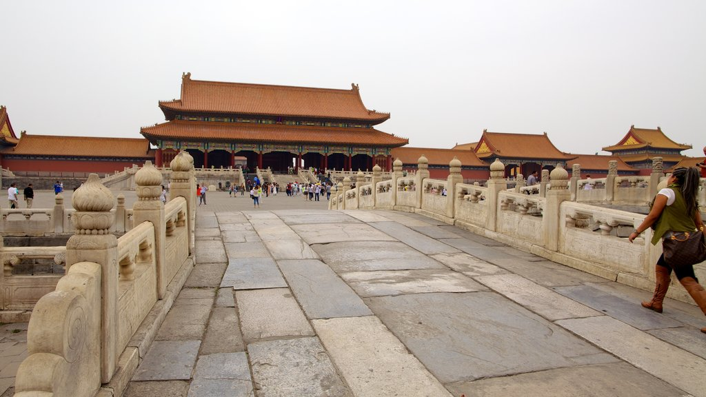 Forbidden City showing a bridge, heritage architecture and chateau or palace