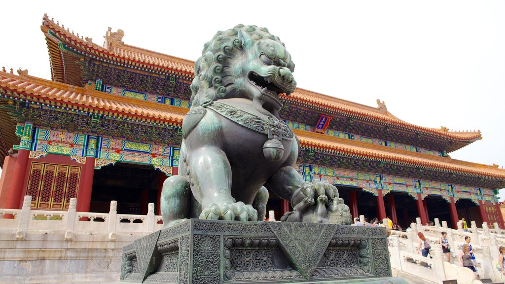 Forbidden City showing a city, heritage architecture and a statue or sculpture