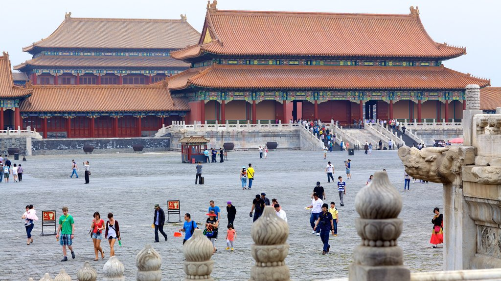 Forbidden City featuring chateau or palace, a square or plaza and heritage architecture