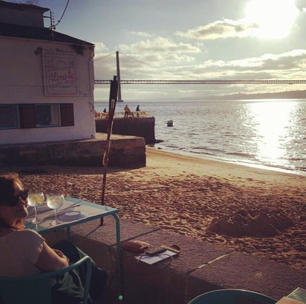 Atira-te ao rio - restaurant bord Tage