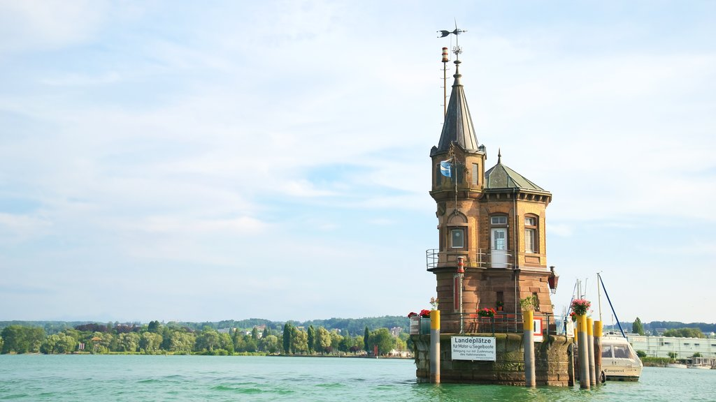 Upper Swabia featuring heritage elements and a bay or harbor