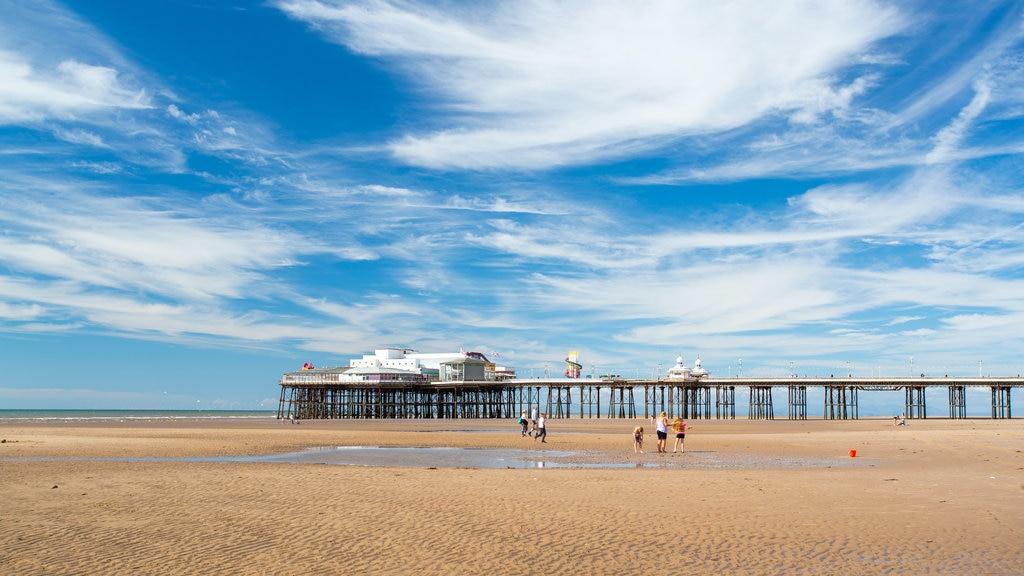 Lancashire featuring a beach and general coastal views