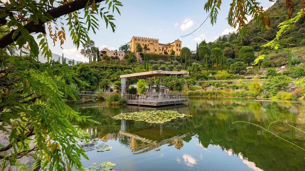 Jardines del castillo de Trauttmansdorff que incluye un estanque