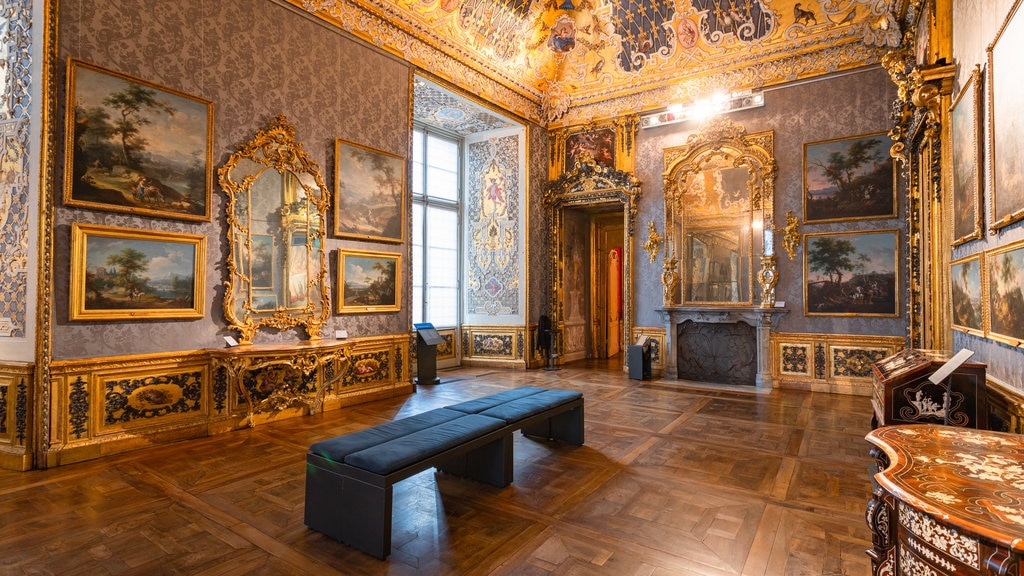 Turin Palazzo Madama featuring art, heritage elements and interior views