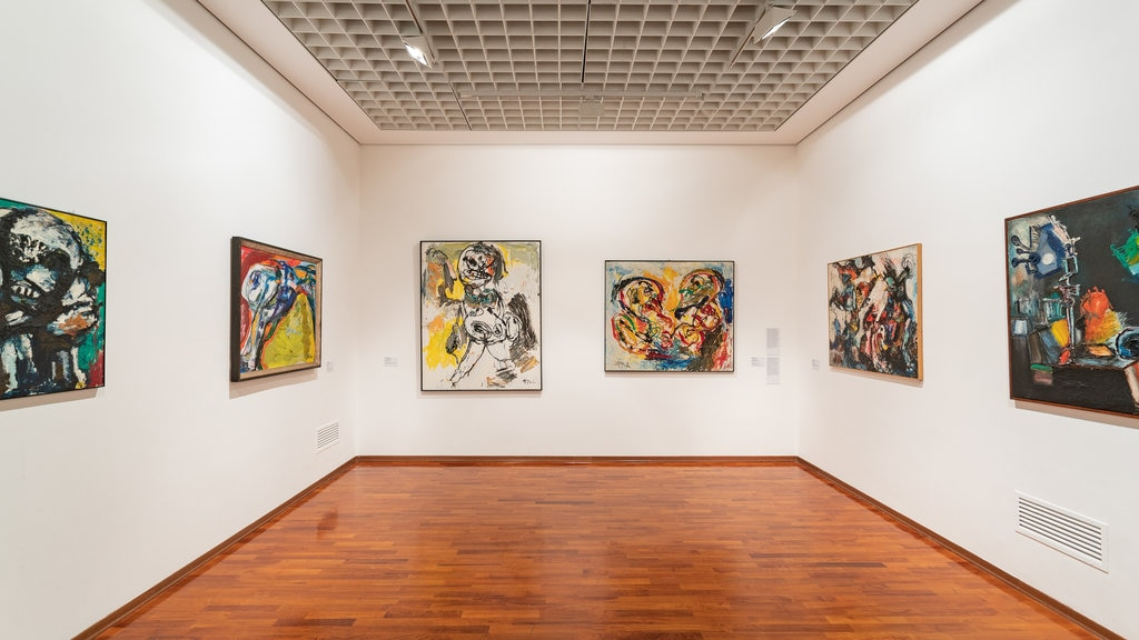 Galleria Civica d\'Arte Moderna e Contemporanea featuring art and interior views
