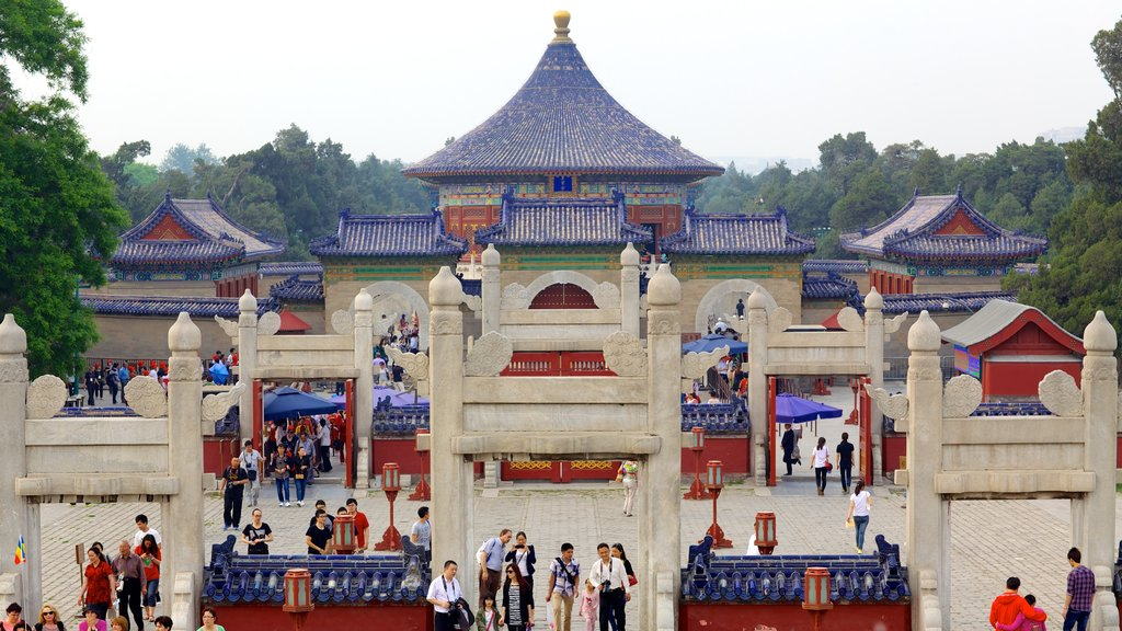Temple of Heaven which includes heritage architecture, a temple or place of worship and religious aspects